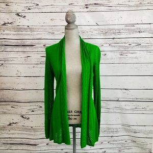🆕NWOT Anthropologie S Green pointelle cardigan
